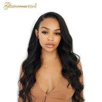Glamorousremi волна бразильский человеческого тела девственные волос Glueless кружева перед парики 150% плотность предварительно сорвал волос 20 26 дюйм