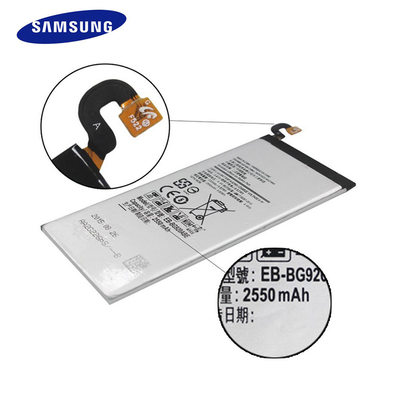 New Original Samsung Replace Battery EB-BG920ABE For Samsung Galaxy S6 G9200 G920f G920i G920A G925S 2550mAh Phone Battery
