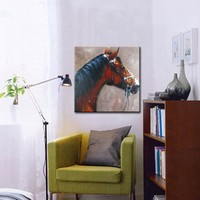 Modern Abstract Oil Painting Animal Hand Painted Canvas Oil Paintings Horse On Canvas Wall Art For