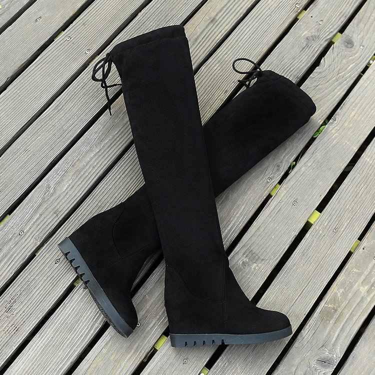 ใหม่รองเท้าผู้หญิงรองเท้าสีดำเหนือเข่ารองเท้าบูทเซ็กซี่หญิงฤดูใบไม้ร่วงฤดูหนาว lady ต้นขาสูงรองเท้า C323