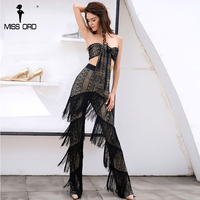 Missord 2017 Sexy BRA Summer Hot Style Two Pcs Tassels Jumpsuit FT8293 1