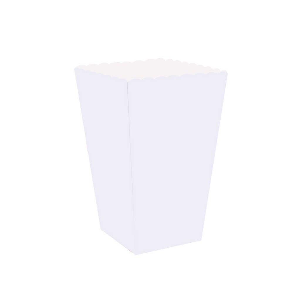 100 шт коробки для попкорна контейнеры картонные бумажные пакеты полосатая