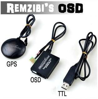 FPV Remzibi Poor Man's OSD + GPS, APM/MWC/ARKBIRD/Rabbit/Pirate TTL Cable Module fpv n1 n2 n3 mini osd for flight controller phantom 2 naza v1 v2 lite remzibi gps