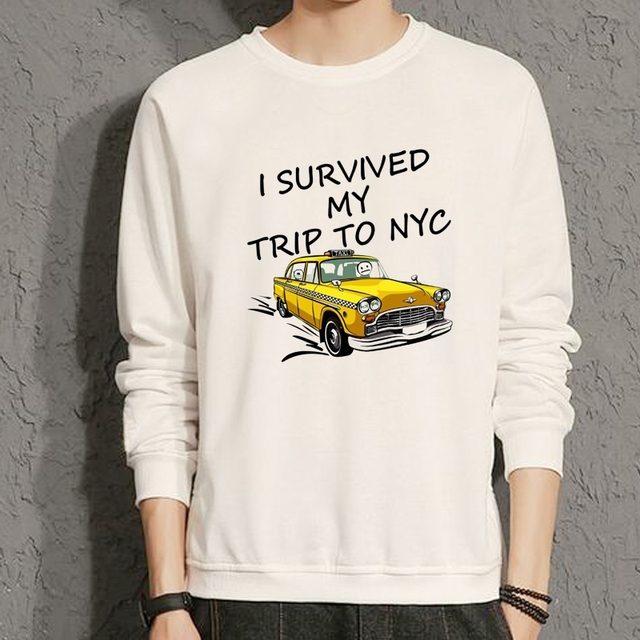 Spider Man Homecoming findx i survived my trip to NYC i survived a new york  city cab ride girls woman winter fleece Sweatshirt b4b6ac7958e