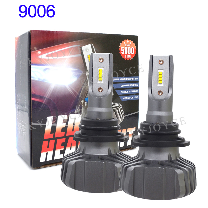 SKYJOYCE H4 LED Headlight Bulb H7 LED H1 H11 9005 HB3 9006 HB4 ZES Chips 50W 10000LM 6500K Car Light Auto LED Headlamp Bulbs 12V (3)