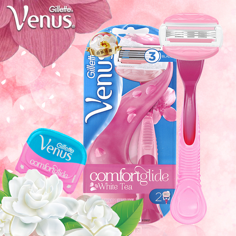 Pk Bazaar Women Hair Remover Gillette Venus Breeze Shaving Razors