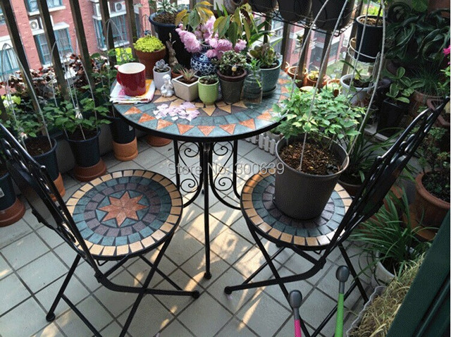Genial Mosaic Table Set Balcony Outdoors Table Leisure Cofee Table Garden Furniture