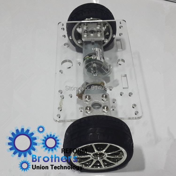 Using 12V 126RPM 1kg.cm gearmotors two balance wheel trailers 2WD ...