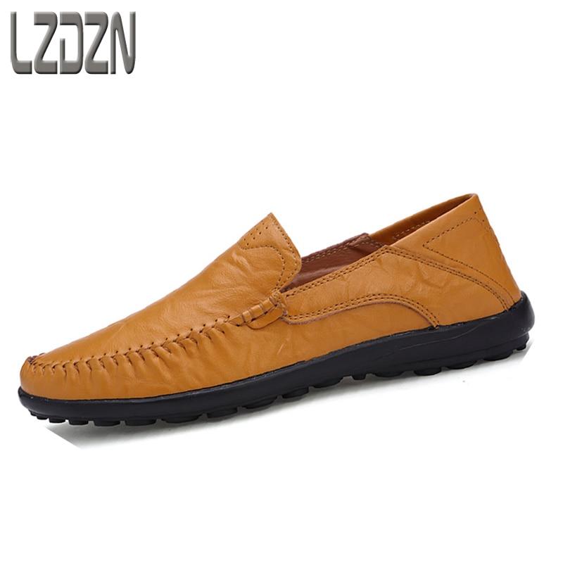 Чоловічі чорні шкіряні туфлі британські чоловічі туфлі без мережива Doug літній відпочинок літній осінній літній взуття