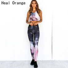 Printing Leggings Set Gym Workout Women Clothes Yoga Sets Suit Clothing