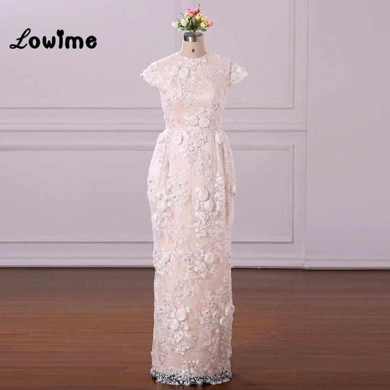 Vintage Robe formelle femmes Robe De soirée élégante 2018 Couture 100% Image réelle à manches courtes Robe De soirée robes De soirée Robe De bal