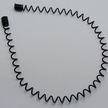 5 Fashion Unisex Metal Black Spring Spiral Coil Wire Headband Flexible (China) 5df8d2137dc