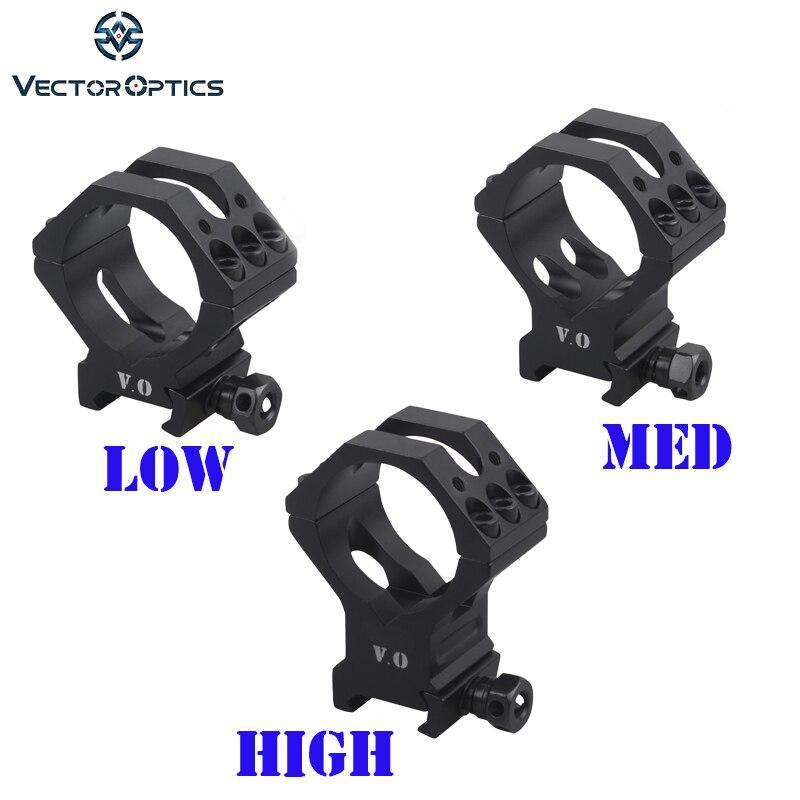 Optique vectorielle 34mm 35mm tactique faible moyenne haute Picatinny lunette de montage anneaux
