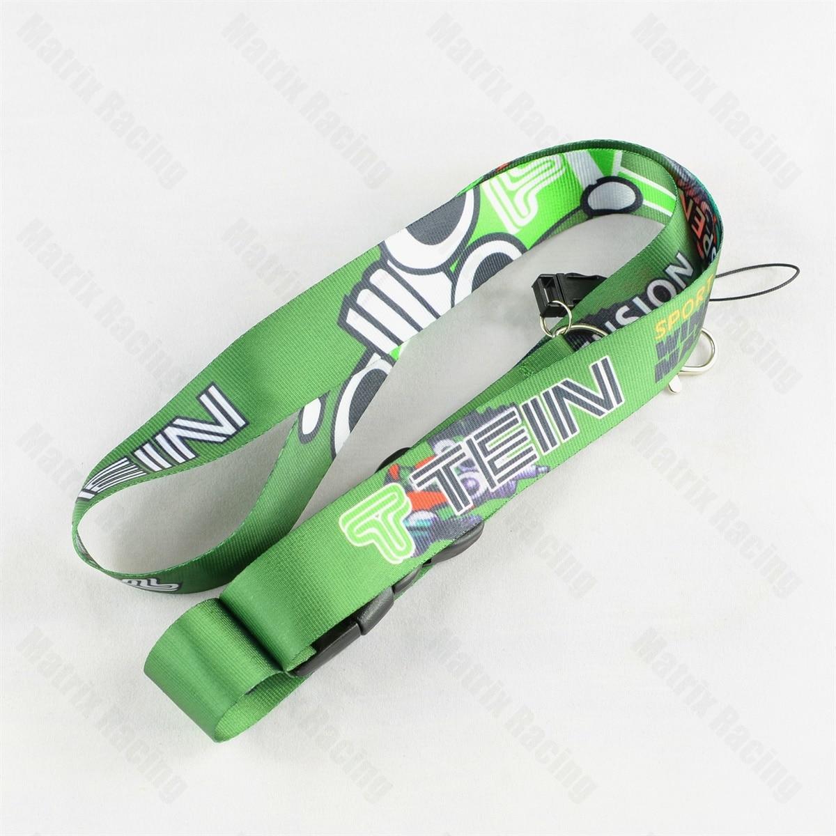 JDM Style for Ferrari Car Logo Cellphone Lanyard JDM Racing Car Keychain ID Holder Mobile Neck Strap with Quick Release for 488 Pista Portofino 812 458 Black
