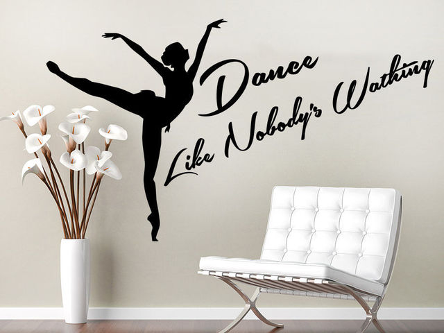 Dance Wall Decal Sport Quote Studio Girl Dancer Dancing Wall Sticker Dance  Room Gym Wall Sticker
