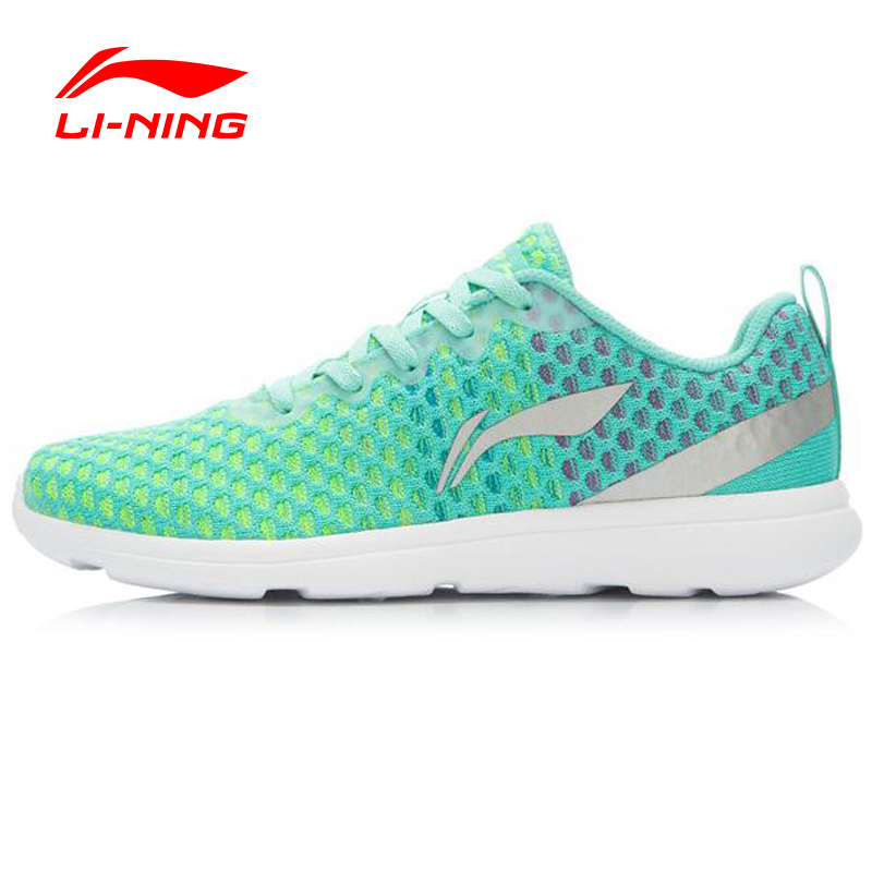 Li-Ning Outdoor Running Shoes Women Light Mesh Breathable Cushioning Lace-Up Sneakers Sport Shoes  ARJK012 XYP246 original li ning men professional basketball shoes