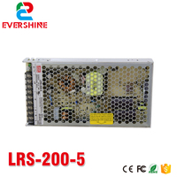 LRS 200 5 5V/40A/200W meanwell switch mode led power supply,UL Listed Mean well power supply ,LED screen ,ultra slim driver
