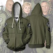 Stargate 3D Printed Cosplay Costume Hoodies Zipper Hooded Thin Jacket Autumn Men Boys Fashion Hoodies