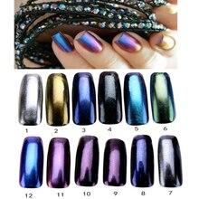 1 Box Щепка Ногтей Порошок Блеск Сверкающих Ногтей Зеркало Порошок Макияж Искусство DIY Chrome Пигмент