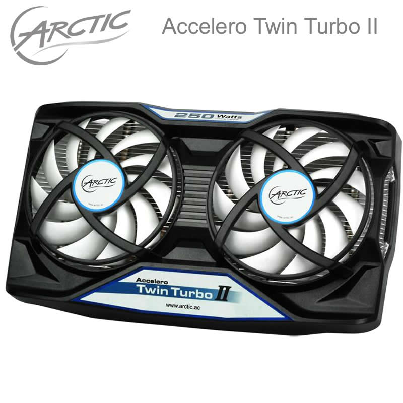 Arctic Accelero Twin Turbo II, dual 92mm PWM Fan video card cooler Replace for R9 380, 370X, 285, 270, R7 370, GTX 980, 970, 960 75mm pld08010s12hh graphics video card cooling fan 12v 0 35a twin for frozr ii 2 msi r6790 n560gtx r6850 n460gtx dual cooler fan