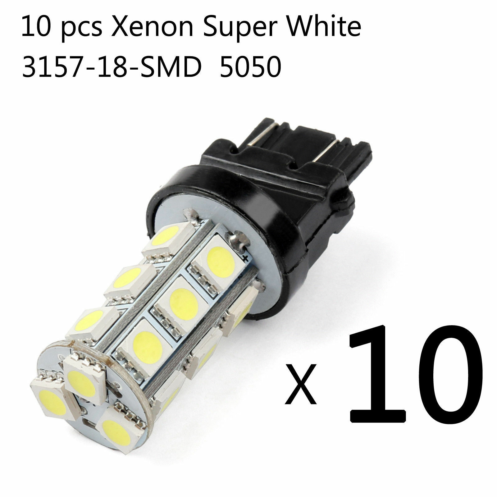 10X Super Bright White 3157 3156 18 SMD LED Tail Brake Running Light Car Led Light Bulbs T25 4114 Turn Signal-in Car Headlight Bulbs(LED) from Automobiles & Motorcycles