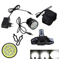 Rechargeable 12000mAh Battery 60000lm 16x XML T6 LED 3Modes Bicycle Light Led Bike Front Light Headlight