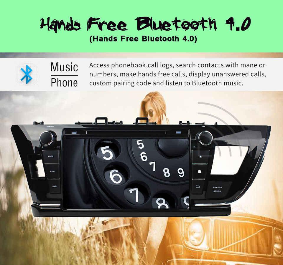 """1024*600 オクタ · コアの Android 9.0 HD 9 """"カー Pc ラジオ Dvd カローラ 2013- 2016 右 Gps 4 グラム/無線 LAN BT IPOD テレビの USB AUX IN"""