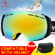 BENICE Ski Goggles Snow Sports Snowboard Goggles with Anti-fog UV Protection Dual Lens for Men Women & Kids SN-3500