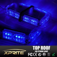 Blue 36 LED High Intensity Emergency Magnetic Roof Top Strobe Light 18W Warning Lamp