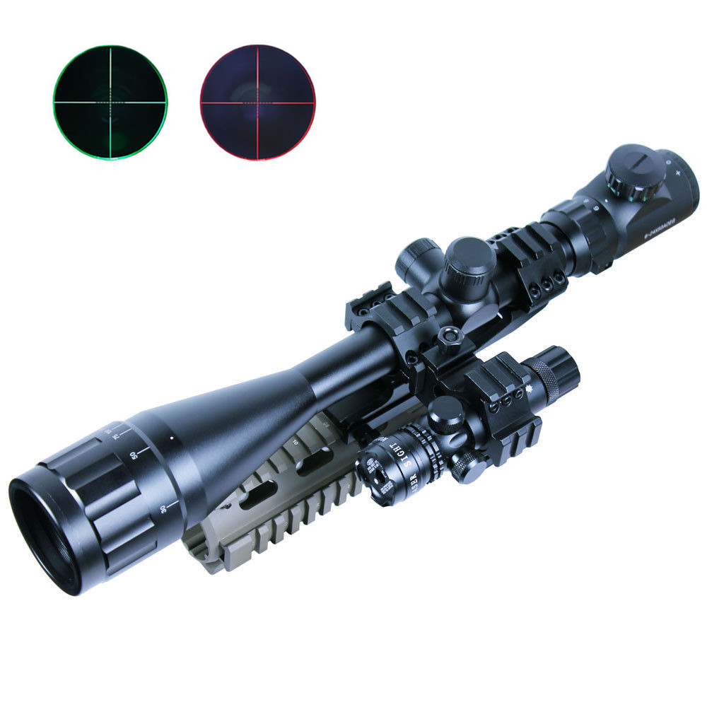 6-24x50 Hunting Tactical Optics Reflex Riflescopes Red/Green Dot Laser Illuminated Airsoft Air Guns Holographic Sight Scopes hunting green dot illuminated laser tactical optics sight rifle airsoft air guns scopes sight green dot rifle scope laser