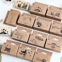 Vintage Reise Landschaft Wald Tiere dekoration stempel holz stempel für scrapbooking schreibwaren DIY handwerk standard stempel