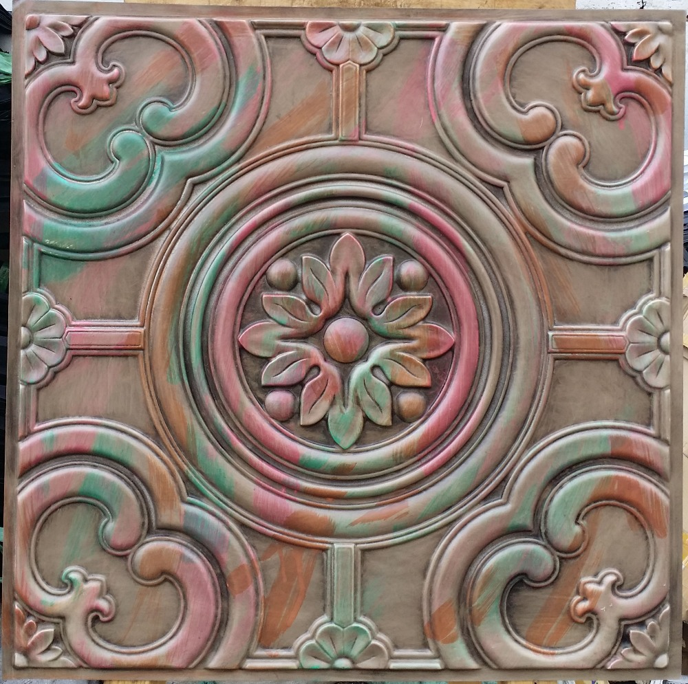 Pl50 Faux Tin Drop In Ceiling Tiles 3d Wall Panels Store
