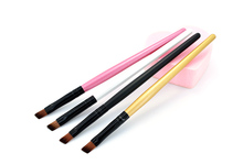 High Quality Eye Comestic Tool Eyebrow Brushes Professional Eyeshadow Brush For Make Up Wood Handle Eye Brow Brushes Tools