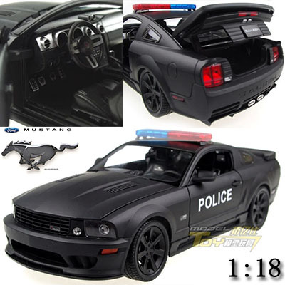 118 mustang police edition alloy model car kids toys children christmas gift car decoratecollect simulation in diecasts toy vehicles from toys hobbies