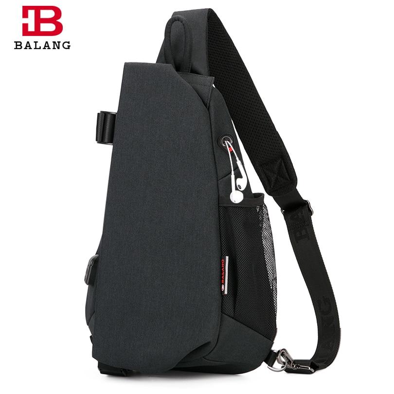 BALANG 2019 New Fashion Messenger Bag Men Waterproof Multipurpose Chest Pack Sling Shoulder Bags for Men Casual Crossbody Bag