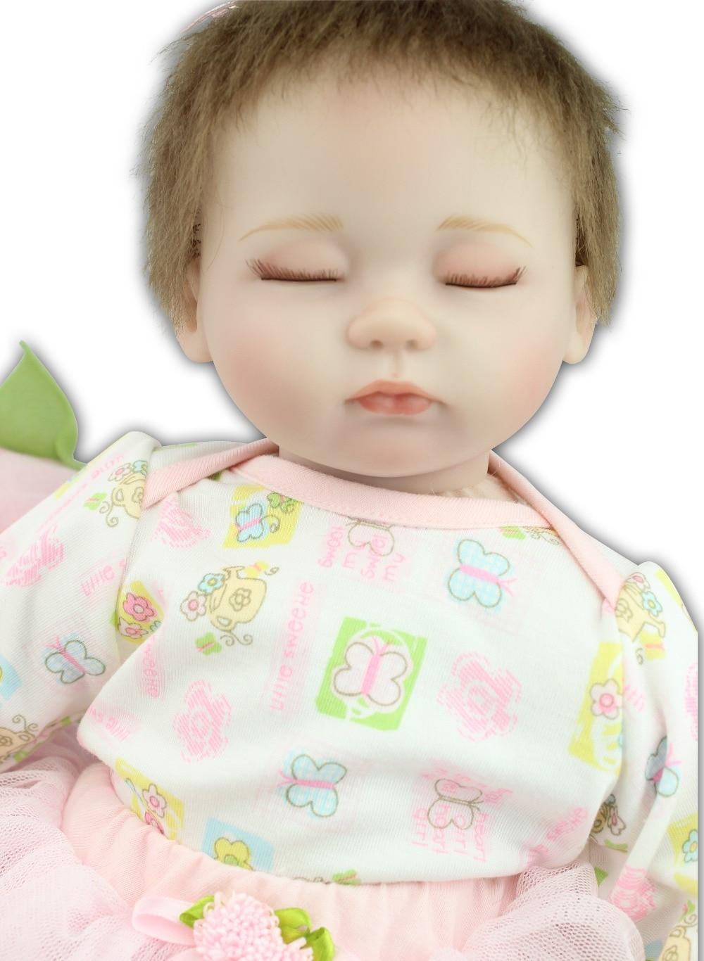 ФОТО New design Free shipping wholesale soft real touch reborn dolls sleeping baby doll  lifelike Silkworm