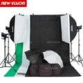 DHL livre Godox 900 W Flash de Estúdio Kit de Iluminação 3X300 W luz Estroboscópica Fotografia & Softbox & Light Stand Retrato Kit