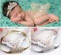 Encantadora Princesa de Cristal Tiara de La Corona de La Venda Del Bebé Accesorios Para el Cabello Infantil Vendas Elásticos Del Pelo Foto Del Bebé Recién Nacido de Las Vendas