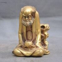christmas 5 Chinese Buddhism Temple Brass Arhat Damo Bodhidharma Dharma Buddha statue halloween