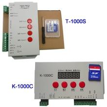 K-1000C (T-1000S Updated) controller K1000C WS2812B,WS2811,APA102,T1000S WS2813 LED 2048 Pixels Program Controller DC5-24V
