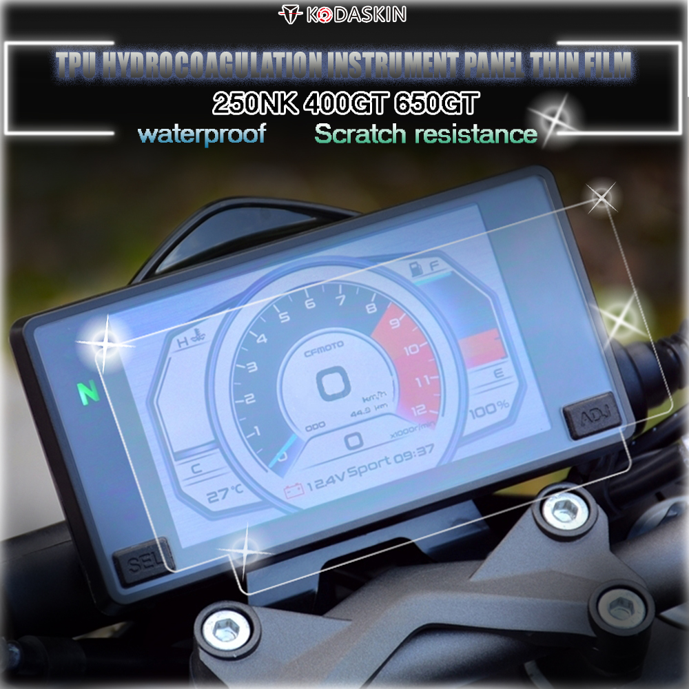 KODASKIN Motor TPU Instrument Protection Speedometer Waterproof  Protective Film Hydrogel Film Fit For  CFMOTO 250NK 400GT 650GT