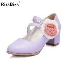 Женщины квадратных каблуках обувь цветочные обувь сексуальная марка партия весенняя мода на высоких каблуках насосы туфли на каблуках размер 30-43 P17842
