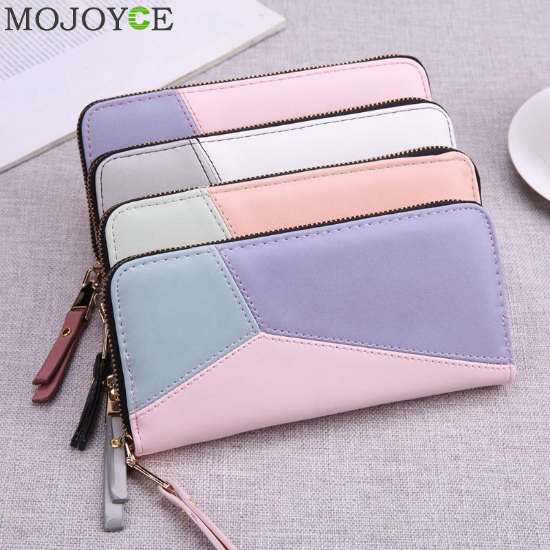 Geometric Wristband Women Wallet Female Long Zipper Women Purse Large Capacity Coin Wallet Purse Brand New Fashion Phone Clutch fashion girl change clasp purse money coin purse portable multifunction long female clutch travel wallet portefeuille femme cuir