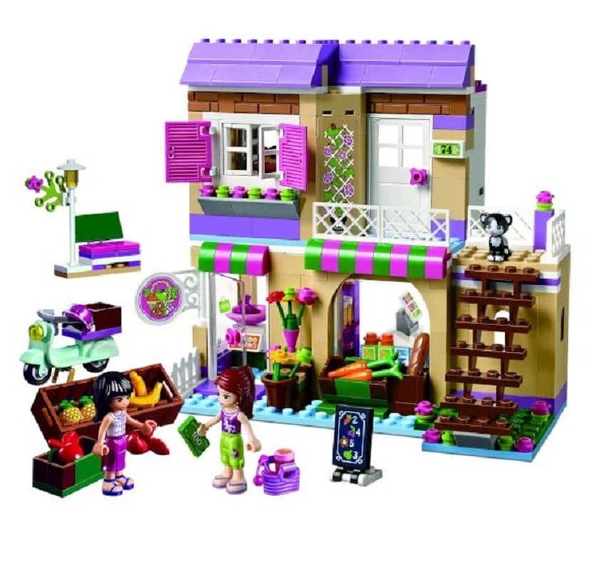 BELA 10495 Heartlake Food Market 41108 Building Blocks Model Toys for Children Compatible with Legoings Friends Bricks Figure brad