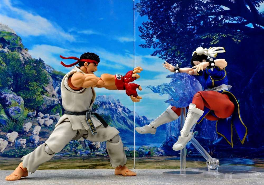 SHF S.H.Figuarts Street Fighter IV 4 Chun Li / Ryu Fighting Body PVC Action Figure Collectible Model Kids Toys Doll 16CM saintgi street fighter v ken bigboystoys with light action figure game toys pvc 16cm model kids toys collection
