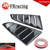 FREE SHIPPING Sand Sprayed Or Specular or Carbon Fiber Side Window Quarter Scoop Louver Cover For Ford Mustang 2015-17 GT WLS01