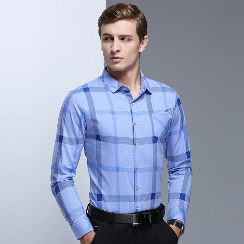 be73750eaa4 2018 Trendy New Spring Summer Smart Casual Slim Style Long Sleeves Men s  Shirts Business Clothing Man Shirt MST132-in Casual Shirts from Men s  Clothing on ...