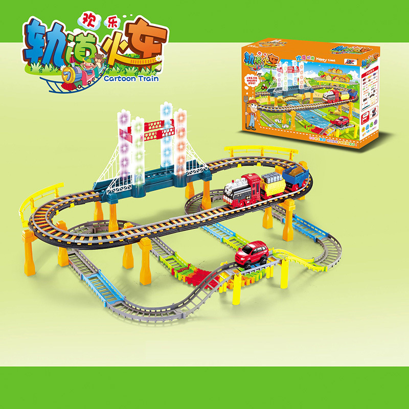 2018 electric rail car train Kids Toys Thomas small locomotive suit boy toy car racing track For childrens gift In Stock