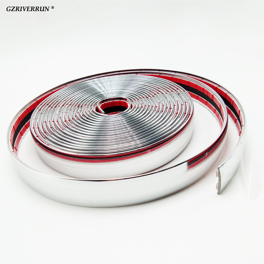 NEW 5m x 20mm Car Chrome Trim Styling Decoration Moulding Side Strip Gille 16ft Truck SUV