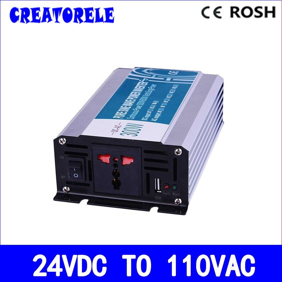 Manufacturers direct suppIy 300w 24v dc to 110v ac  pure sine Wave inverter voltage converter solar inverter P300-241Manufacturers direct suppIy 300w 24v dc to 110v ac  pure sine Wave inverter voltage converter solar inverter P300-241